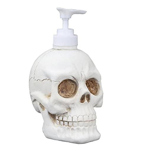 Tuimiyisou Dispensador de líquido Botella Vintage Skull Forma Home Bomba Botella Shampoo Cuerpo Lavado Crema Crema Gel Soporte de Almacenamiento Contenedor Líquido 350 ml Herramientas de Maquillaje