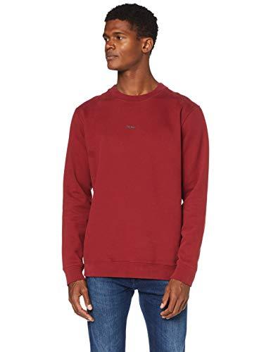 BOSS Herren Weevo Sweatshirt, Dark Red (605), 3XL EU