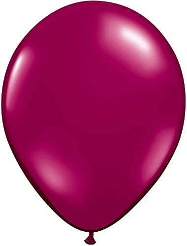 11 Inch (100 ct.)-Burgandy Qualatex Latex Balloons by Qualatex