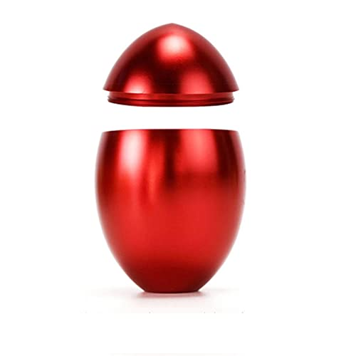 SKREOJF Sello de té portátil de Viaje de Huevo de Oro Sello con Cubierta de café cojín de Caramelo de Caramelo Colección de Aluminio Almacenamiento de Aluminio (Color : Red)