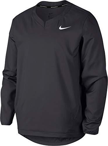 Nike Men's Long Sleeve Baseball Jacket Anthracite/White Size Large