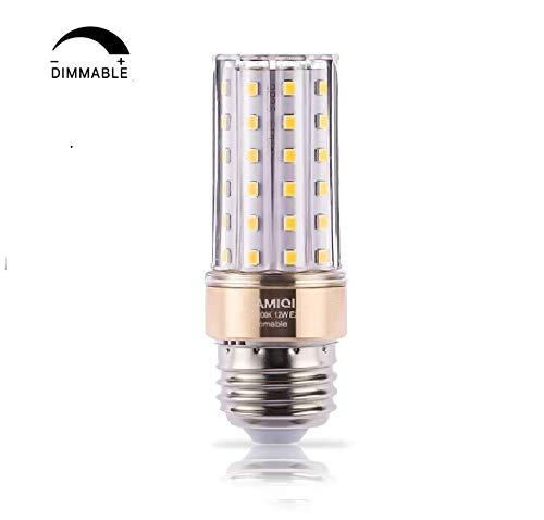 ILAMIQI E27 LED-Leuchtmittel, dimmbar, 10 W LED Kerzenleuchter, entspricht 100 Watt, 1200 lm, Led Leuchtmittel, Warmweiß 3000 K, flackerfrei, röhrenförmig, 1 Stück