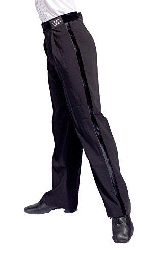 GD5102 Jungen Internationale Professionelle Standards latein Moderner Tanz Wettbewerb/Leistung Kinder Kostüme(Hinweis: Hemden und Hosen müssen separat gekauft Werden) (130, (Sbs)pants(black))