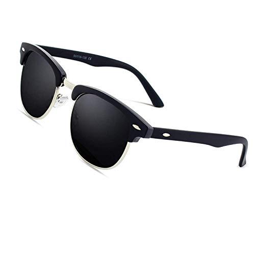CGID Gafas sol polarizadas retro medio marco clásico