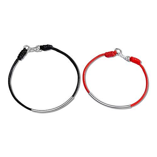 ペアブレスレット カップル メンズ ブレスレット レディース ペアバングル 赤い糸 黒い糸 プレゼント オシャレなギフトラッピング済み