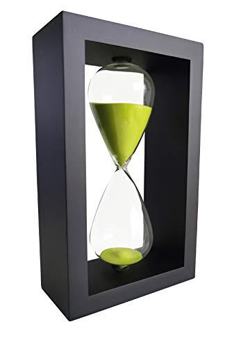 Lodunsyr Reloj Temporizador De Arena Hogar Ornamento Escritorio De Oficina Reloj De Arena 30 Minutos Decoración para Sala Juego De La Escuela Cocina 30 min Reloj De Arena Verde