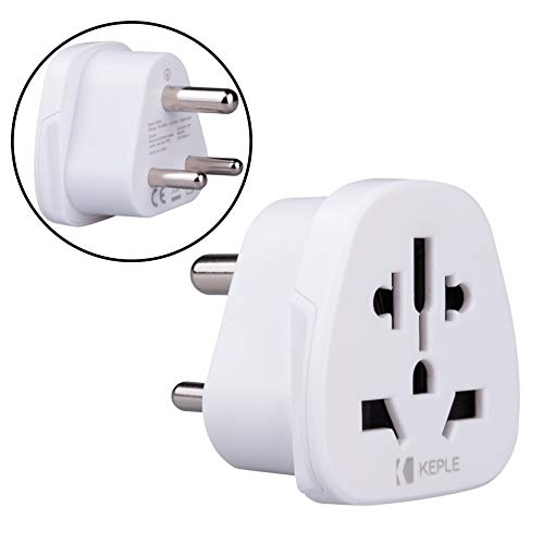 India Indian Indio Adapter Plug Viaje Tipo D to a UK, US USA American, AUS AU Australia, EU Europe European, China, Japan, Tailandia, Swiss Adaptador Universal Adaptor Enchufe Internacional 3 Pin