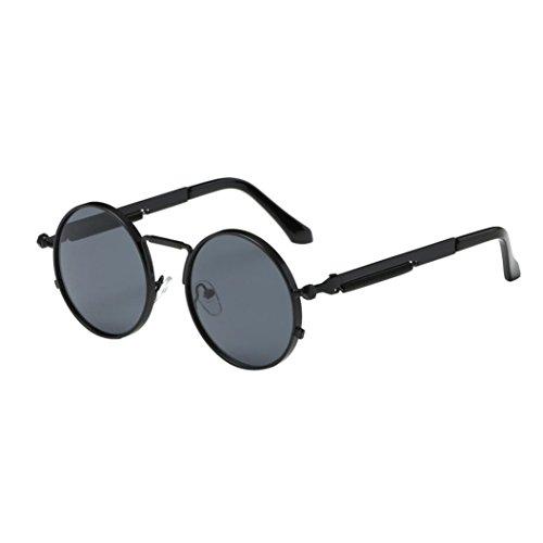 beautyjourney Occhiali da Sole da Donna Uomo polarizzati Occhiali da Sole Donna Rotondi Vintage Sunglasses Cat Eye - Occhiali da Sole Donna Occhiali u