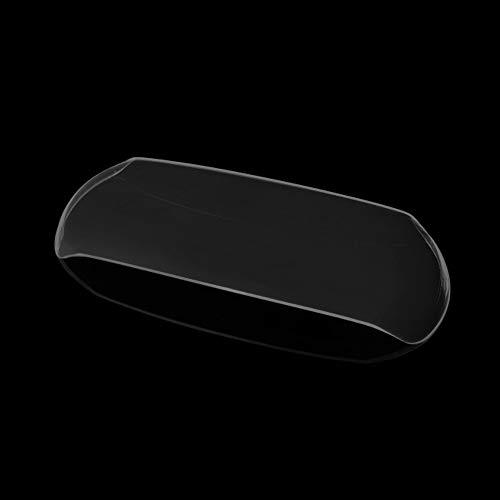 LIWIN Motorradzubehör For GOGORO GOGORO2 2017-2018 Motorrad-Scheinwerfer-Schutz-Abdeckung Schild-Schirm-Objektiv (Color : Smoked black)