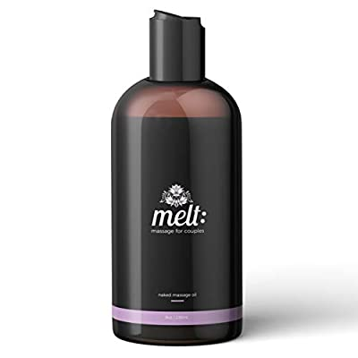 Melt Sensual Massage Oil   Relaxing, Therapeutic Sweet Almond Oil   Soft, Moisturizing Skin Therapy   Provides Couples with Muscle, Body Tension & Stress Relief