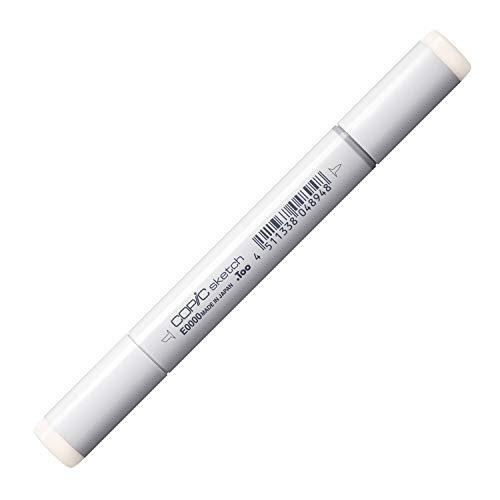 COPIC Sketch Marker Typ E - 0000, Floral White, professioneller Pinselmarker, alkoholbasiert, mit einer Super-Brush-Spitze und einer Medium-Broad-Spitze