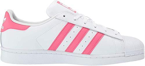 Adidas ORIGINALS Superstar, Zapatillas para Niños, Blanco Real Rosa Real, 39 1/3 EU