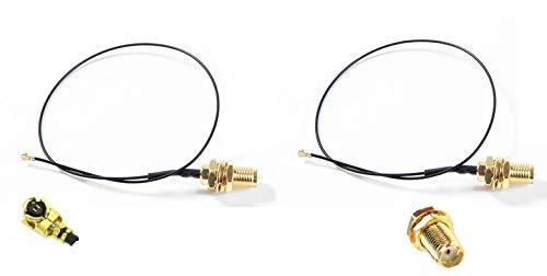 Intel - Cable Pigtail (2 x 20 cm, MHF-4, IPEX-4 a SMA hembra/hembra RF, tarjeta 7260/7265/8260/EM906/AC9560)