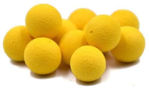 Namvo 1 caja de 30 bolas de olor de cebo de pesca, cebo de carpa, cebo flotante de pesca, cebos artificiales, bolas de olor para pesca de maíz amarillo de 8 mm