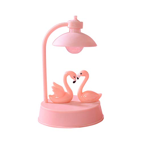 Uonlytech Flamingo Night Light for Kids,Creative Resin Table Lamp Best Gifts for Girls Baby Birthday,Decor for Home Bedroom Living Room Nursery (Pink)