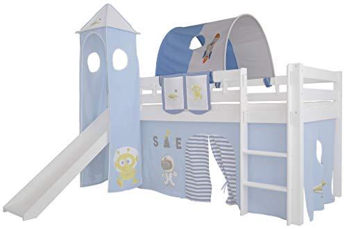 Mobi Furniture Tunnel Space für Hochbett Höhle Etagenbett Spielbett Kinderbett Bettdach