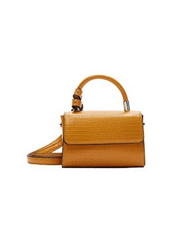 s.Oliver Damen Mini Bag in Reptil-Optik yellow 1