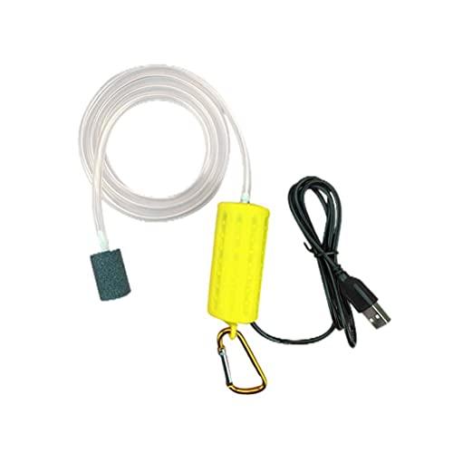 Hosuho Mini USB Fish Tank Acuario Oxígeno Bomba de Aire Portátil Silent Compresor de Aire Aireador Ahorro de Energía Suministros para Acuario Pesca Accesorios