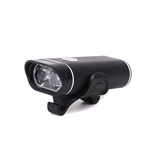 JSY Éclairage vélo VTT Phares Charging USB Glare éclairage Lampe de Poche Nuit Equitation Sets d'éclairage Avant et arrière (Color : B)