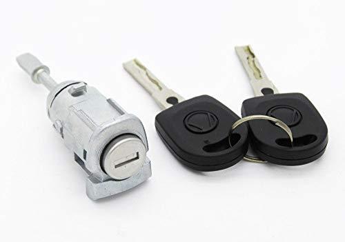 Kit serratura + Cilindro per porta anteriore sinistro VW Golf 4POLO BORA A6Skoda Fabia + Chiave @ pro-plip