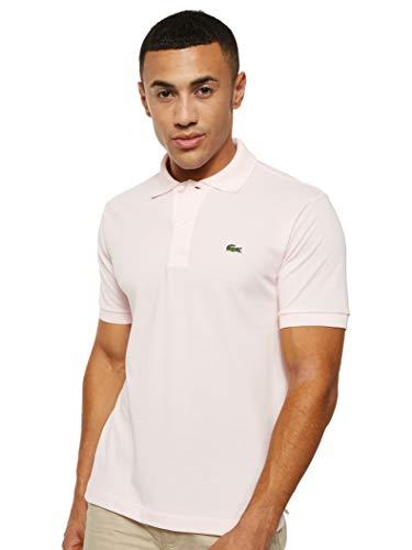 Lacoste Men's Short Sleeve L.12.12 Pique Polo Shirt, Flamingo Pink, L