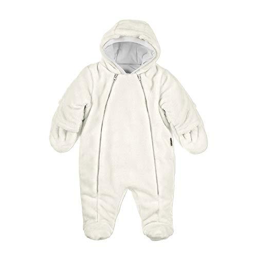 Sterntaler - Baby Mädchen Overall Fleece mit Zwei Reißverschlüssen gefüttert Plüsch, Ecru - 5501880, Größe 56
