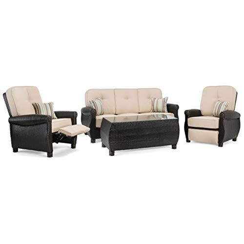 La-Z-Boy Outdoor ABRE-4PC-RC-N Outdoor Furniture Set, Natural Tan