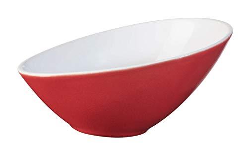 ASA 91052084 schaal/kom - VO〖LE - asymmetrisch - rood - porselein