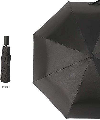 NO BRAND Suministros de Lluvia Viajes umberllas Sun Paraguas de la Lluvia Paraguas Ligero irrompible Portable UV Protección Compacto (Color: Gris, Tamaño: Libre) Adecuado para Salir en días de Lluvia