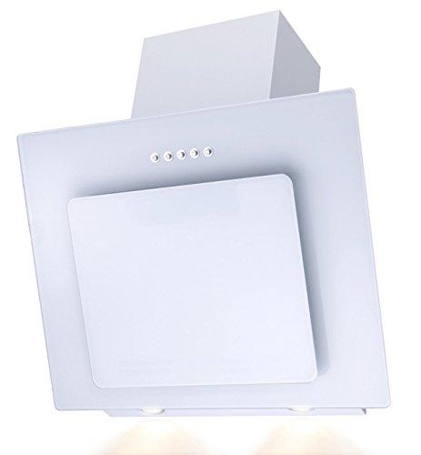 SH60de WH Cristal Blanco Campana extractora borde de aspiración 60cm oblicuo