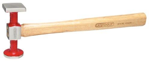 KS Tools 140.2134 Martillo de carrocero estándar, cabeza abombada (redonda/angular), superficie de trabajo pulida, 325 mm