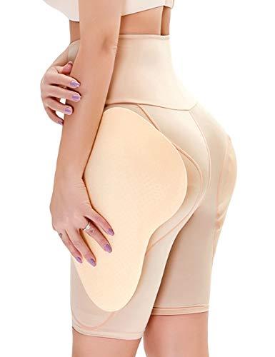 LaLaAreal Leggings elásticos Pantalones Cortos de Cintura Alta Short Control de Abdomen para Mujer