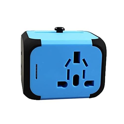 Reiseadapter Reisestecker Universal-Reiseadapter, weltweit Reise-Ladegerät Reisebuchse, International Power Charger AC-Stecker-Adapter mit 2 USB-Anschlüssen Multi-Nation-Reisezubehör Charge Universal