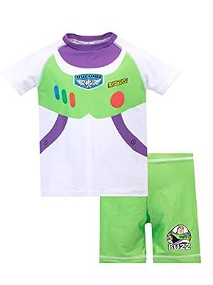 Disney Boys' Toy Story Two Piece Swim Set Buzz Lightyear Multicoloured Size 5