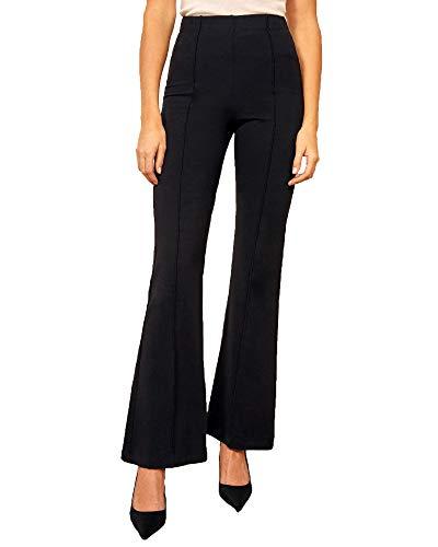ADDYVERO Women's Slim Fit Casual Trousers (CL-WM-L0729-28_Eerie Black_28)