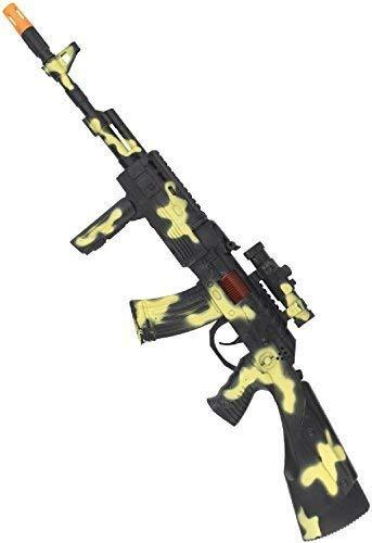 Fancy Me Giocattolo Pistola Camo Militare Fucile Soldato Militare Campagna Sea Air Carnevale Festival Divertimento Costume Arma Prop Accessorio