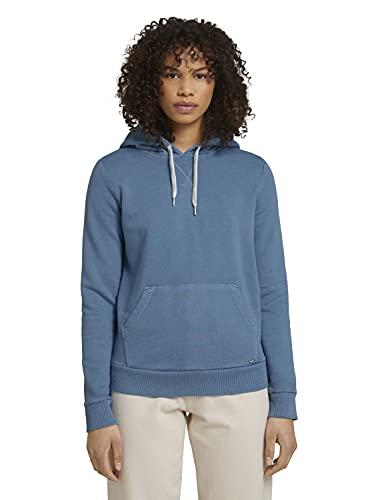 TOM TAILOR Denim Damen 1024829 Hoodie Sweatshirt, 25900-Soft Mid Blue, M