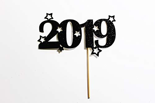 2019 Cake Topper New Years Eve New Years Eve Party Celebrations Cake Decorations Festive Celebrations. Glitter Cardstock Topper