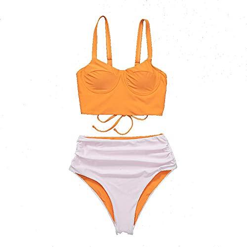 Aeromdale Bikini Set Dos Piezas Top Traje De Baño Para Mujer De Talle Alto, Traje De Baño De Playa Traje De Baño - # B - M