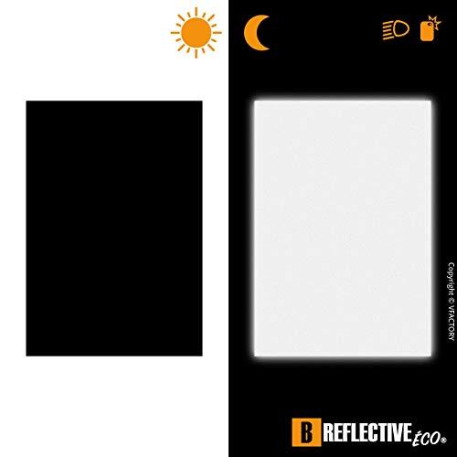 B REFLECTIVE, (Paquete de 2) Kit de Pegatina Reflectante a Cortar, Seguridad y Alta Visibilidad di Noche, Adhesivo Universal para Bicicleta/Cochecito/Casco/Moto/Motocicleta, 20 x 30 cm, Negro
