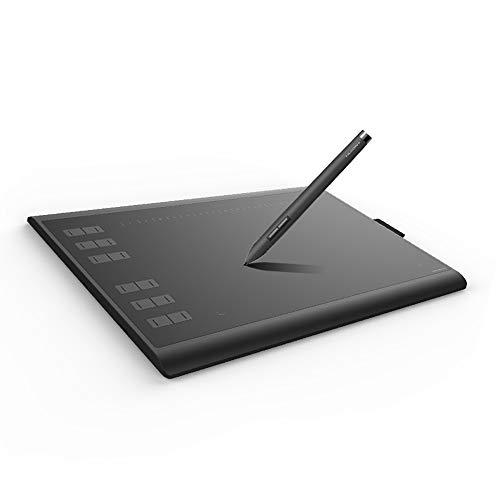 MHOL Tablero De Dibujo del Ordenador, Tableta Digital 8192 Horizontal Gráficos por Ordenador Tableta para Firmas Pen Tablet, Adecuada para La Animación