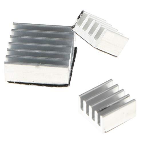Shiwaki 3 Packungen Aluminium Kühlkörper Kühlkörper Adhesive Cooling Kit Für Raspberry Pi