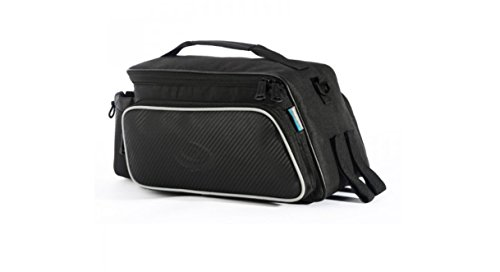 Roswheel Texture Series Cycling Bicycle Bike Pannier Rear Seat Bag Rack Trunk - Also as Shoulder Bag or Handbag Black