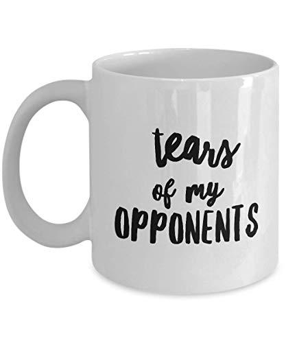 Taza de café de los abogados 11 onzas - Regalo divertido para el abogado supremo Estudiante de derecho - Historia de la corte de los derechos civiles Casos políticos - Lágrimas de mis opositores
