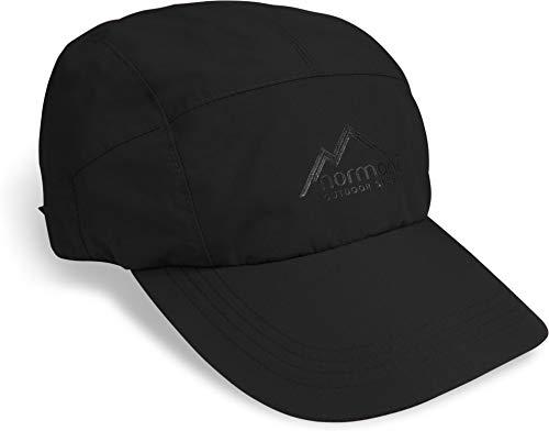 normani Regenmütze Schirmmütze Cap 100% wasserdicht (S-3XL) Farbe Dunkelschwarz Größe 3XL