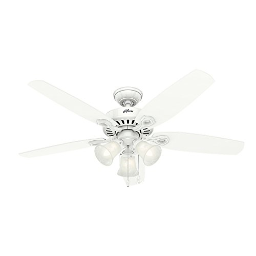 Hunter Builder Plus Indoor Ceiling Fan with Lights and Remote Control