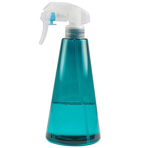 PN-Braes Conjunto de 2 Transparente Azul cónico Fino atomizado de plástico Botella de Spray pulverizador Recargable Contenedores 500ML (Color : Blue, Size : 500ml)