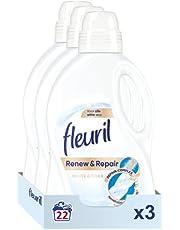 Fleuril White & Fiber, Vloeibaar Wasmiddel, Witte Was, 66 (3x22) Wasbeurten