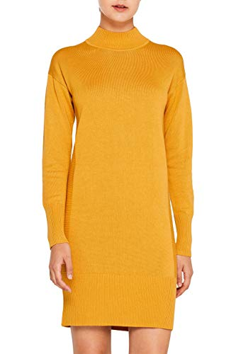 edc by ESPRIT Damen 109CC1E012 Kleid, Gelb (Honey Yellow 710), Medium (Herstellergröße: M)