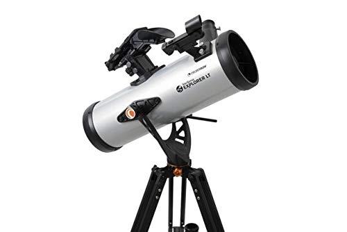 Celestron StarSense Explorer LT 114AZ Smartphone App-fähiges Teleskop – funktioniert mit StarSense App, um Sterne, Planeten und mehr zu finden – 114 mm Newtonischer Reflektor – iPhone/Android kompatibel